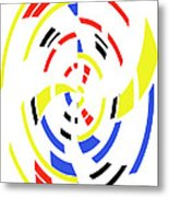 4 Colors Abstract Metal Print