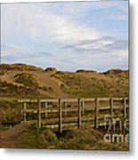 Cornish Seascape Holywell Bay Metal Print