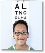 Eye Examination Metal Print