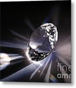 Faceted Quartz Gem Metal Print