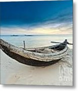Fisherman Boat Metal Print