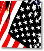 Flag Lady Metal Print