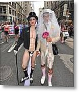 Gay Pride Couples Nyc 2011 Metal Print