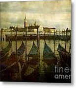Gondolas. Venice Metal Print