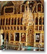 Inside The Old Russian Orthodox Church Metal Print