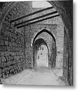 Jerusalem Old Street Metal Print