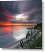 Long Exposure Sunset At A North San Metal Print