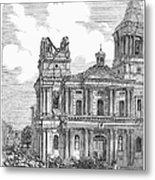 Manila: Earthquake, 1863 Metal Print