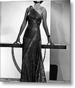 Myrna Loy, Mgm Portrait By Clarence Metal Print