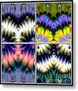 4 Panel Look Hearts Ud Fractal 64 Metal Print