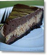 Peanut Butter Chocolate Cheesecake Metal Print