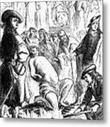 Persecution Of Waldenses Metal Print