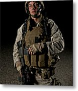 Portrait Of A U.s. Marine Metal Print