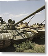 Russian T-54 And T-55 Main Battle Tanks Metal Print
