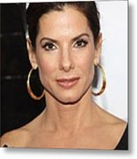 Sandra Bullock At Arrivals For The Metal Print