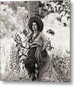 Silent Film Still: Woman Metal Print
