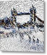 Southbank London Art Metal Print