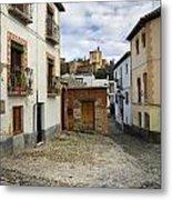 Street In Historic Albaycin In Granada Metal Print