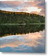 Sunrise Above A Lake On A Wind Still Morning Metal Print