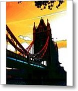 Sunset At Tower Brigde Metal Print