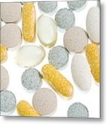 Supplements Metal Print by