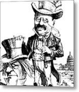 Teddy Roosevelt Cartoon Metal Print