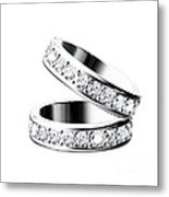 The Beauty Wedding Ring Metal Print