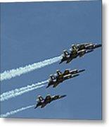 The Blue Angels Perform Aerial Metal Print