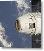The Spacex Dragon Commercial Cargo Metal Print