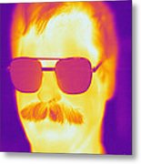 Thermogram Of A Man Metal Print