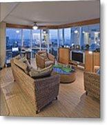 Usa Hi Honolulu Upscale Living Room Metal Print