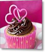 Valentine Cupcake Metal Print
