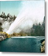 Yellowstone Park: Geyser Metal Print