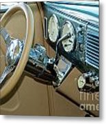 40 Ford Coupe Dash Metal Print