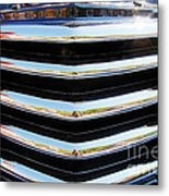 48 Chevy Convertible Grill Metal Print