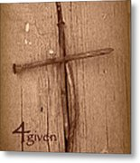 4given Forgiven Metal Print by Cindy Wright