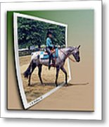 4h Horse Competition Metal Print