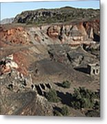 Abandoned Manganese Mine At Cape Vani Metal Print