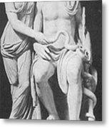 Aesculapius, Greek God Of Medicine Metal Print