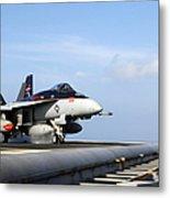 An Fa-18e Super Hornet Launches Metal Print