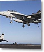 An Fa-18f Super Hornet During Flight Metal Print