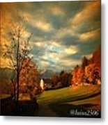 Autumn In South Tyrol Metal Print