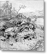 Battle Of Fredericksburg Metal Print