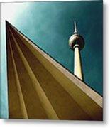 Berlin Tv Tower Metal Print by Falko Follert