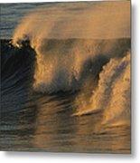 Breaking Surf At Sunset In La Jolla Metal Print