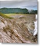 Bromo Crater Metal Print