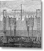 Brooklyn Bridge, 1870 Metal Print