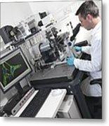 Cell Biology Laboratory Metal Print