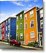 Colorful Houses In St. John's Newfoundland Metal Print