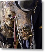 Fall  Halloween On Tillson Street Metal Print